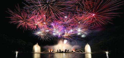 Fogos de artifício do Grand Canal em Versailles