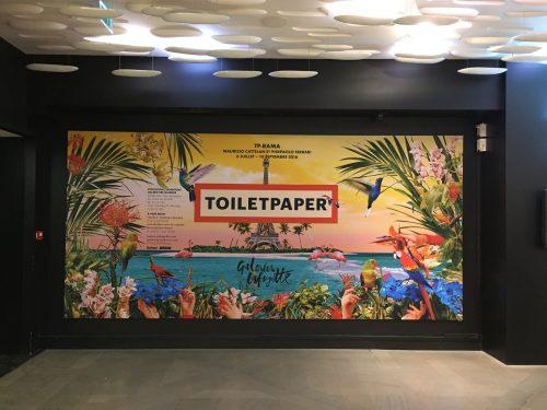 """Exposição """"TP-RAMA"""" em cartaz na galeria de arte das Galeries Lafayette"""