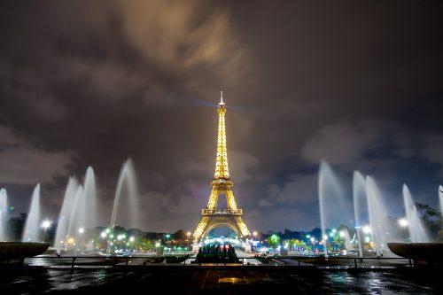 Vista da Torre Eiffel a partir do Trocadéro