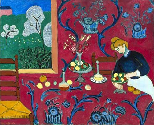 Henri Matisse, La Desserte. Musée d'Etat de l'Ermitage