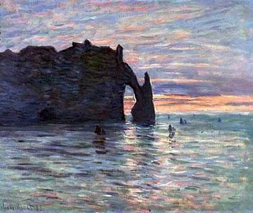 Claude Monet, Coucher du Soleil à Étretat