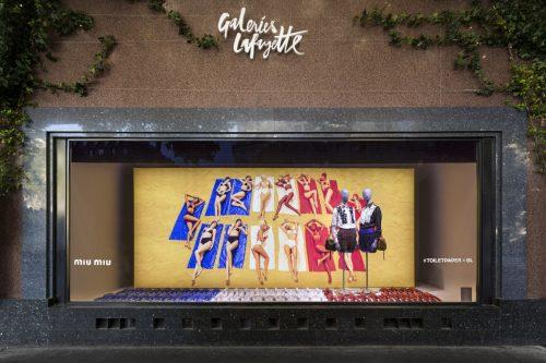 Um das vitrines das Galeries Lafayette Paris Haussmann criada pela dupla TOILETPAPER (as vitrines já foram desmontadas)