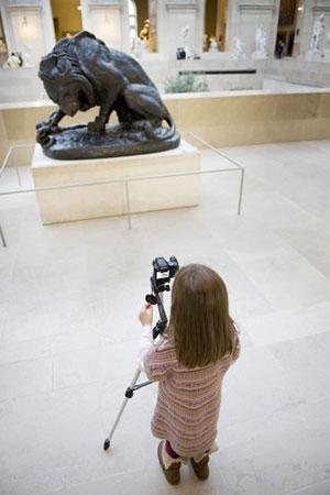 Museu do Louvre, ateliê Curso de Fotografia diante das obras