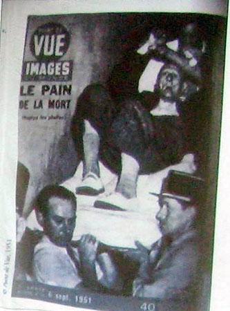 Foto da época: doente sendo hospitalizado