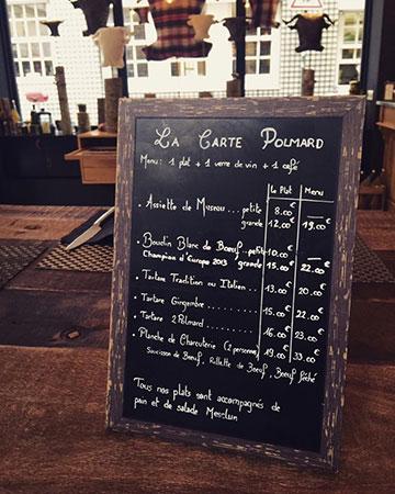 Espaço degustação da loja Polmard de Paris
