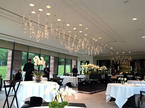 Sala do restaurante Villa Lalique