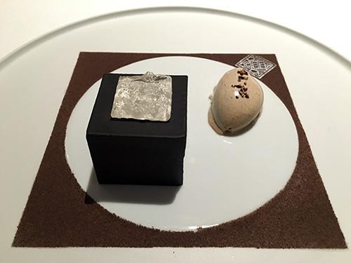 Villa Lalique, sobremesa carré de chocolate com sorvete