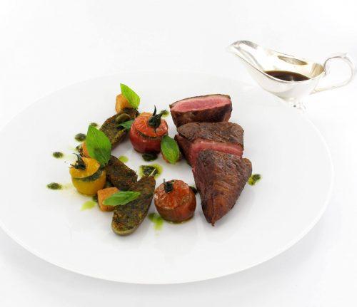 Filet de caneton rôti aux légumes de Provence