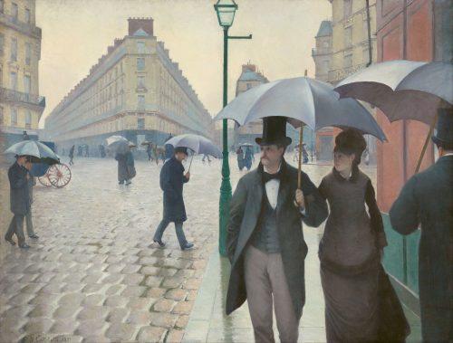 Rue de Paris, temps de pluie Gustave Caillebotte