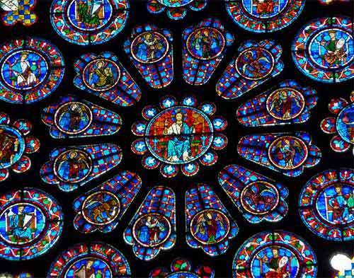 Vitral da Catedral de Chartres, Foto foto: Franek N no Flickr