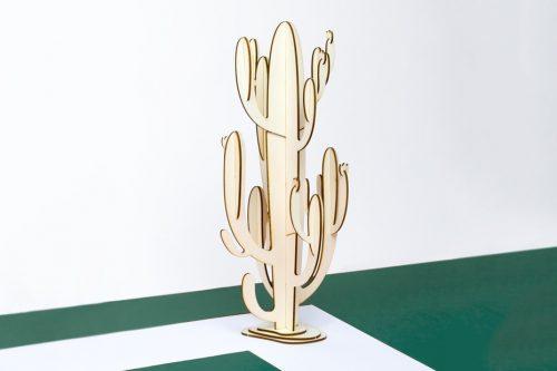 Cactus em madeira a ser montado, h=40cm