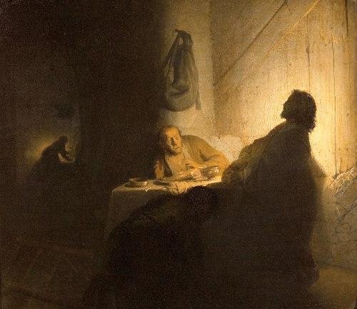 Les Pèlerins d'Emmaüs de Rembrandt