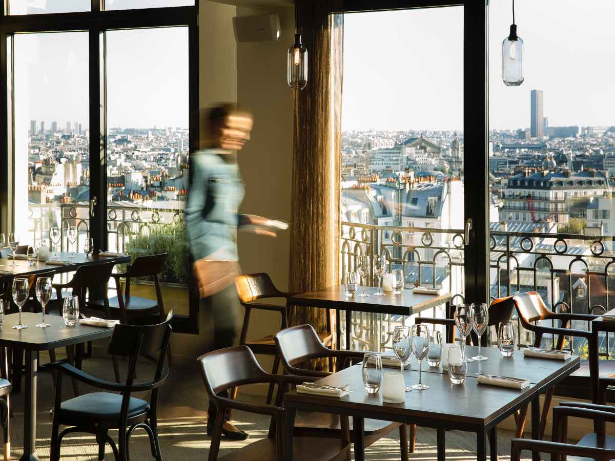 restaurante com vista para Torre Eiffel