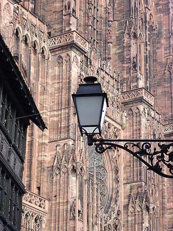 Detalhe da fachada da Catedral de Estrasburgo.