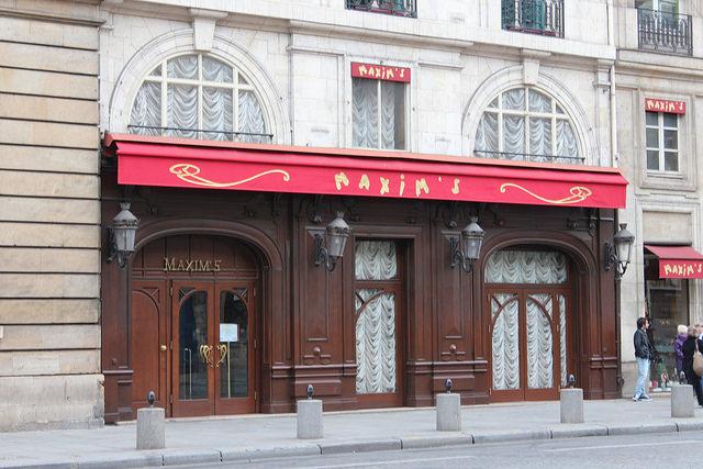 Maxim's, um dos restaurantes da Belle Époque em Paris