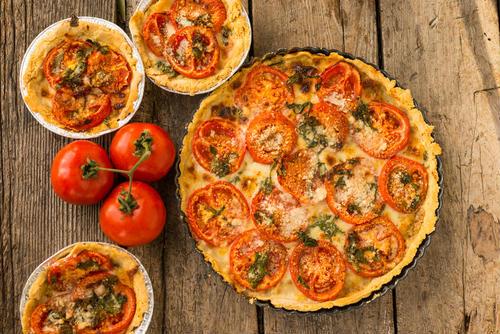 Receita de torta com tomates secos