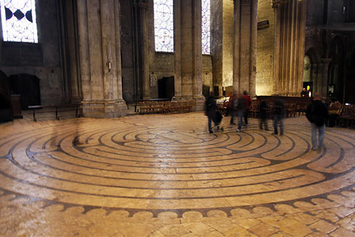 Catedral de Chartres. Labirinto. Alexandre Dolique no Flickr