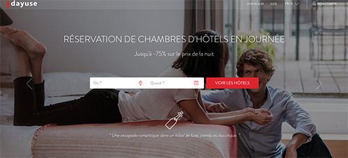 Paris: hotéis para encontros amorosos. Site DayUse