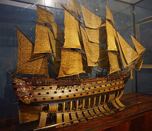 Museu da Marinha. Modelos reduzidos dos antigos navios à vela