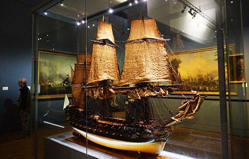 Museu da Marinha. Navio que participou da guerra de independência dos Estados Unidos