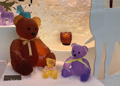 Daum, ursinhos para decoração de Natal