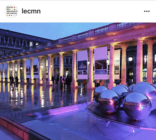 Instagram e museus franceses. Centre Monuments Nationaux