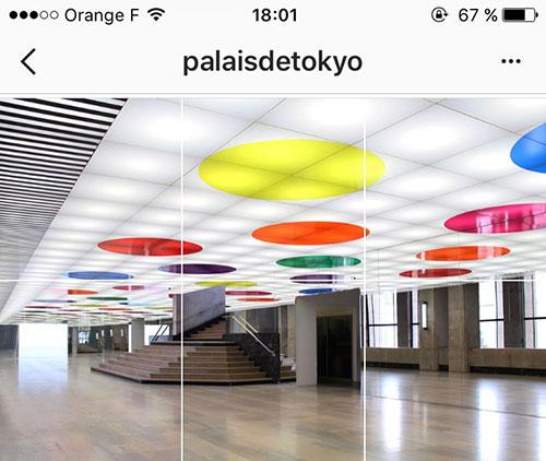 Instagram e museus franceses. Palais de Tokyo