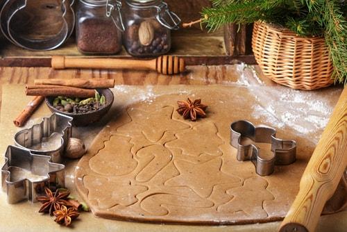 Biscoitos de pain d'épice.