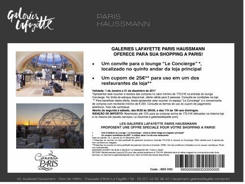 benefícios exclusivos aos leitores do Conexão Paris
