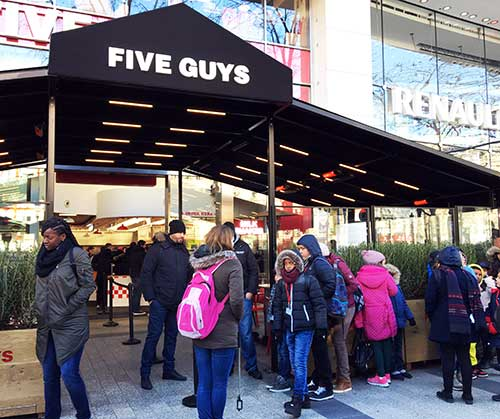 Five Guys Champs Élysées