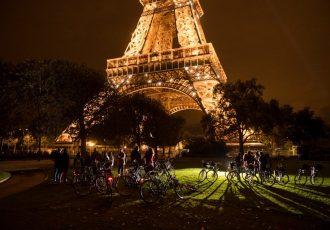 passeio de bicicleta em Paris