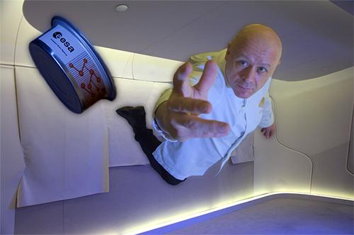 viagem espacial gastronômica