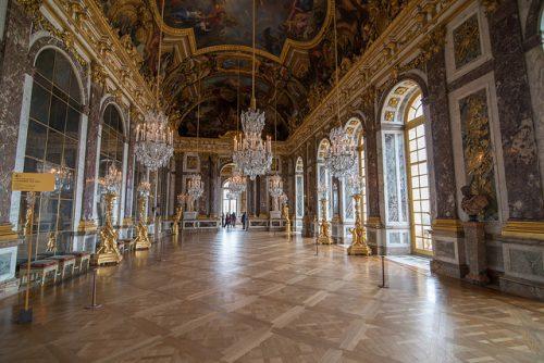 baile barroco no Castelo de Versailles