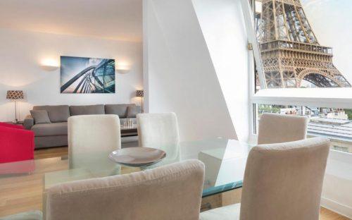 Hotéis com vista para Torre Eiffel