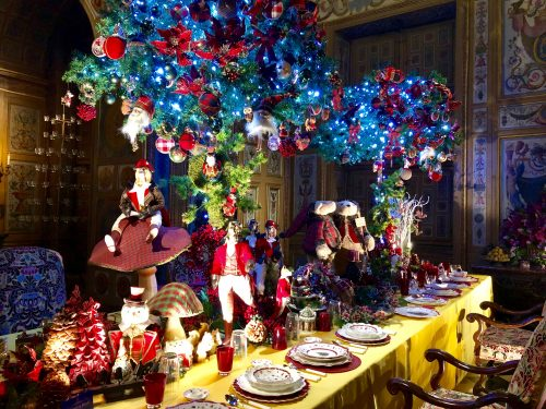 Natal do castelo Vaux-le-Vicomte