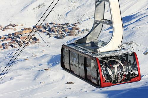 A pequena cidade de Val Thorens se encontra a 2.300m de altitude, no meio das pistas de ski. Foto: OT Val Thorens