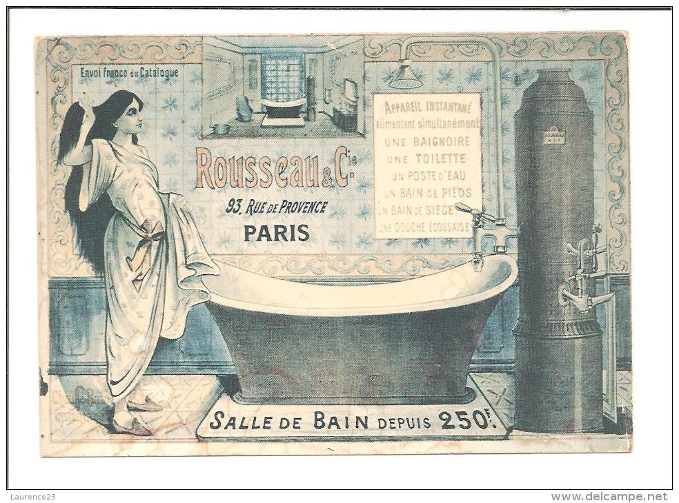 As propagandas do século 19 anunciavam a grande novidade: os banhos de banheira.