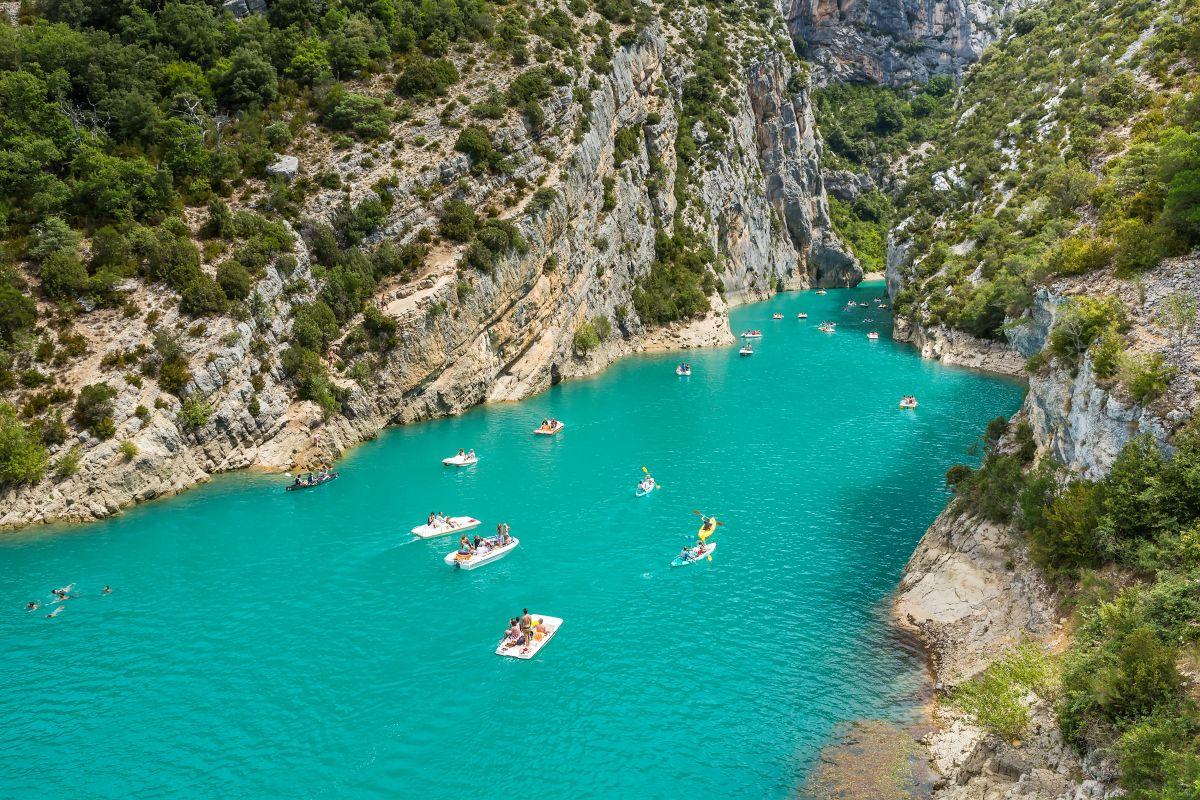 Os cânions da Gorges du Verdon, no Provence.