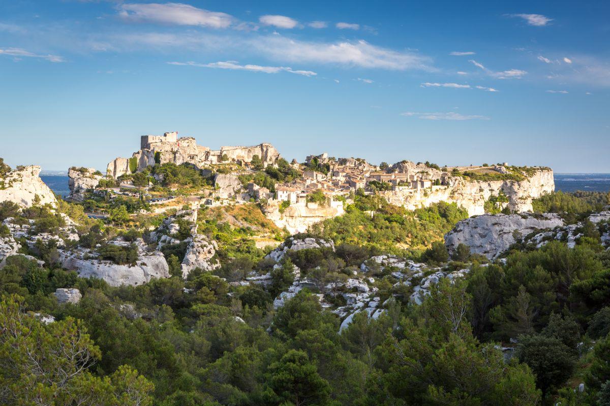 O vilarejo Baux de Provence.