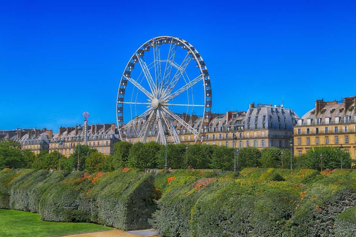 verao em paris roda gigante no jardim tuileries