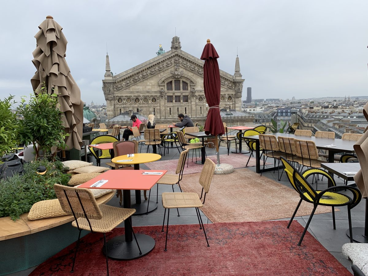 restaurante no terraço das Galeries Lafayette