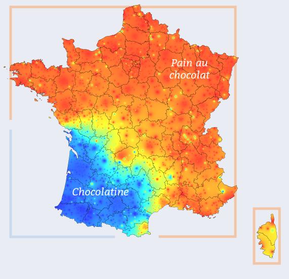 mapa frança pain au chocolat