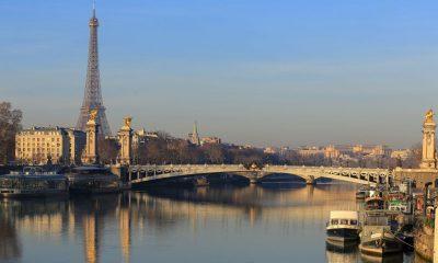 paris em janeiro vista geral da cidade