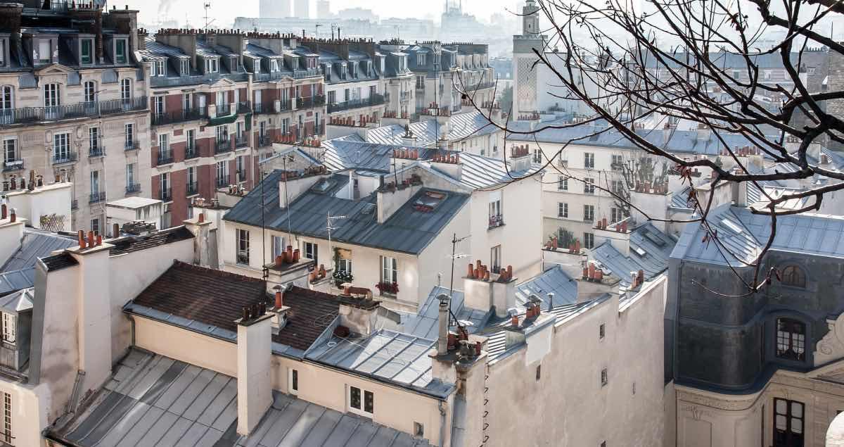telhados de paris no inverno