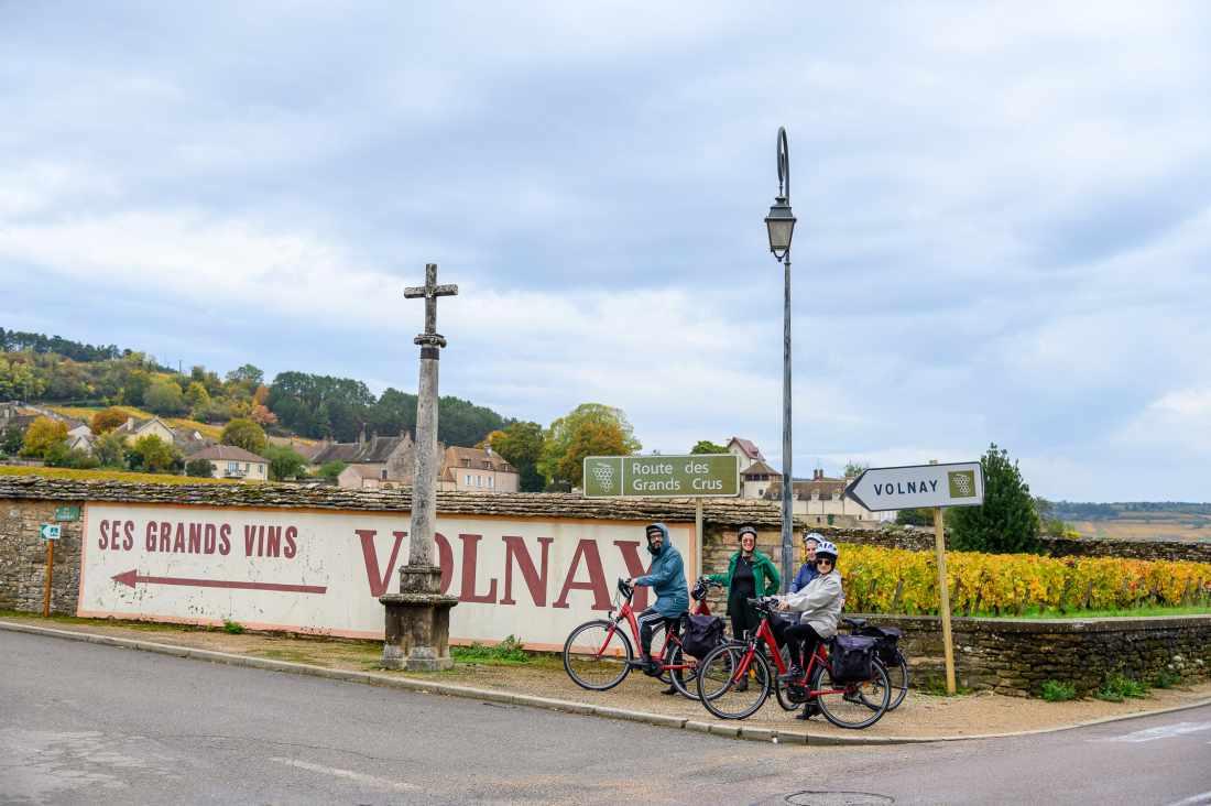 A Rota dos Grands Crus, na Borgonha.