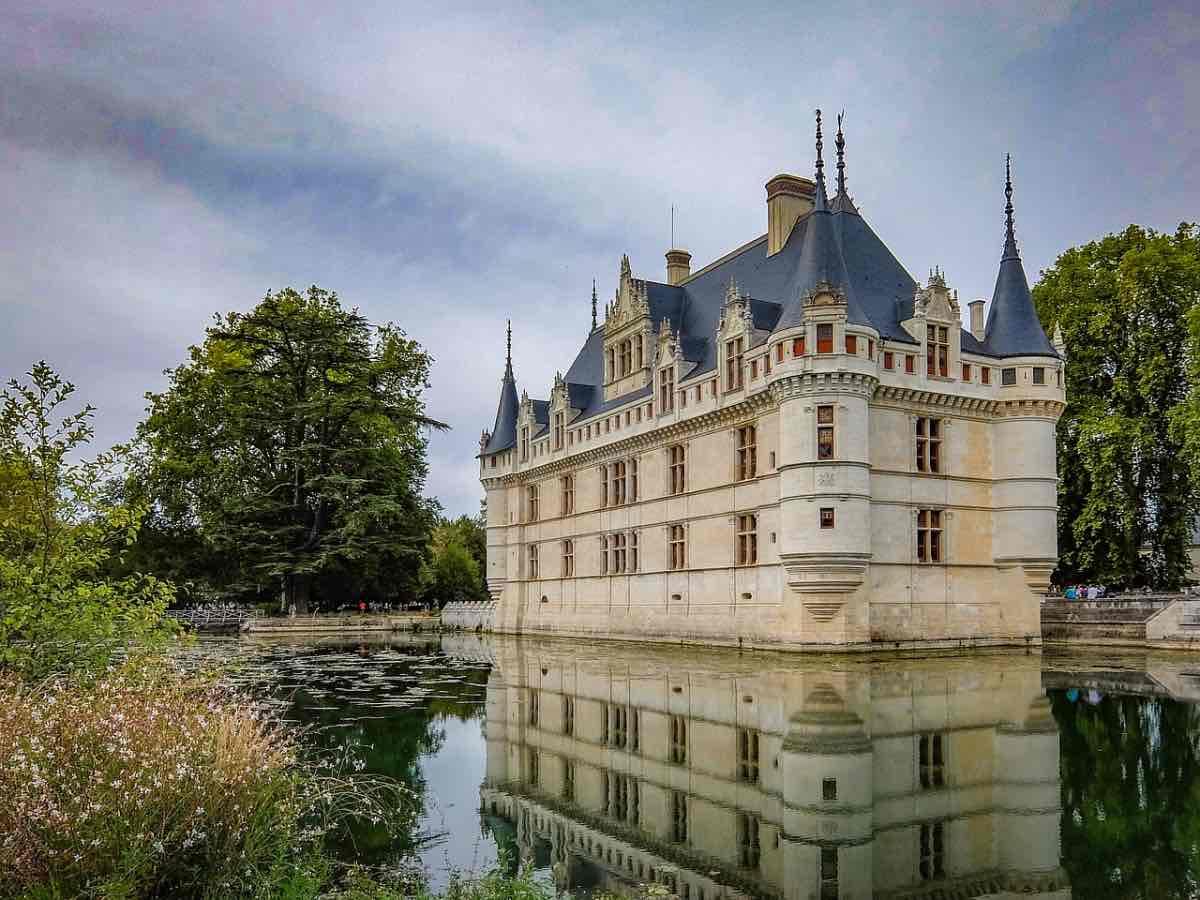 Castelo Azay le Rideau no Vale do Loire França