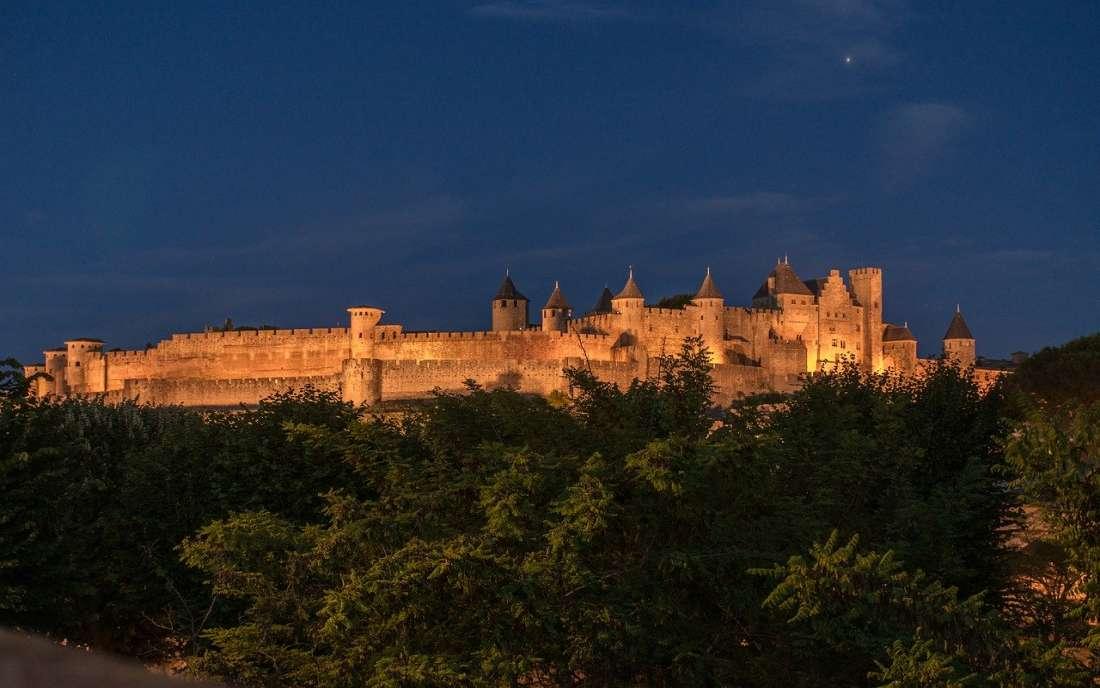 Cidade medieval Carcassonne no sul da França