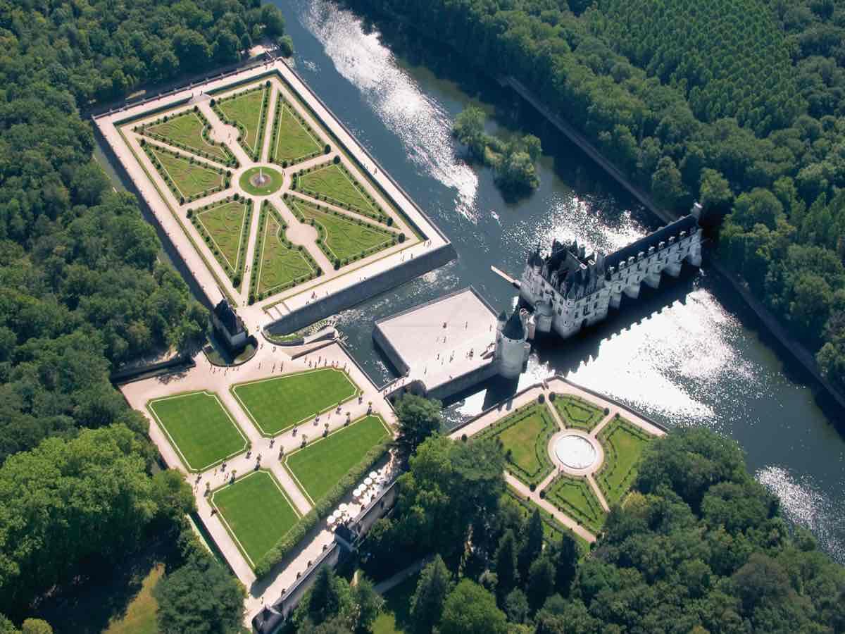 Castelo Chenonceau no Vale do Loire França