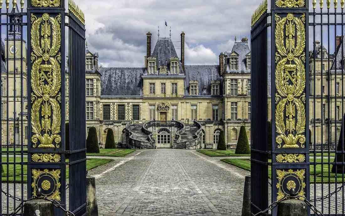 Castelo de Fontainebleau na França