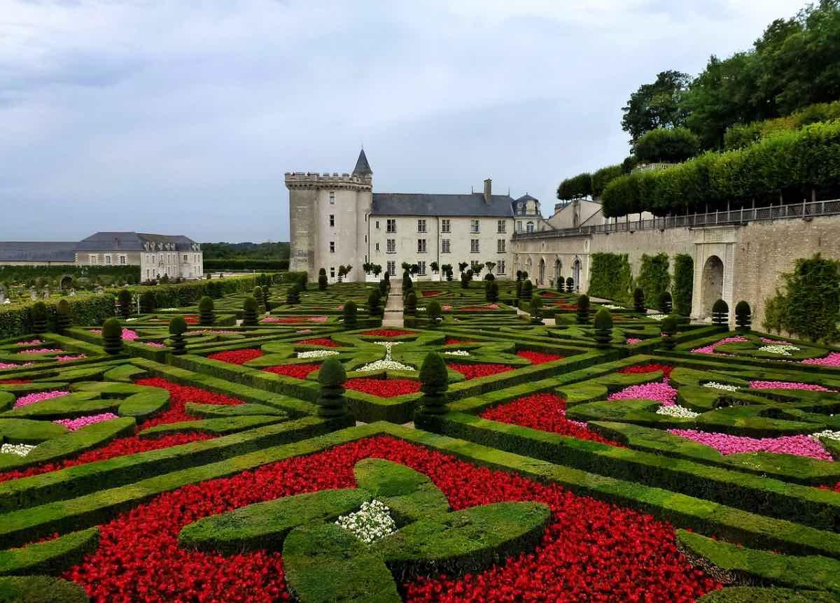 Castelo Villandry no Vale do Loire França